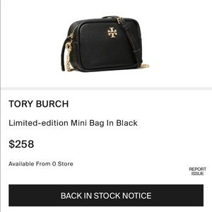 Tory Burch Limited-Edition Mini Bag Black NWT